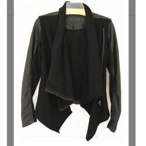 Blank NYC • Draped Vegan Leather and Ponte Jacket